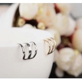 Ezüstszínű fülgyűrű