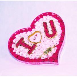 I Love You óriás rózsaszív