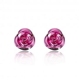 Rózsaszín rózsás ékszer szett