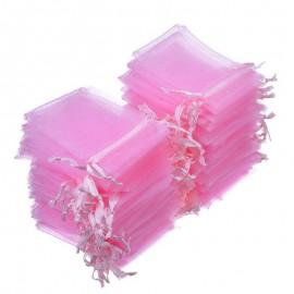 Pink organza zsák
