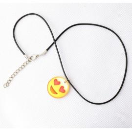 Szerelmes emoji medálos nyaklánc