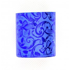 Kék mintás díszszalag
