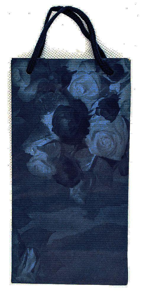 Sötétkék rózsás dísztasak