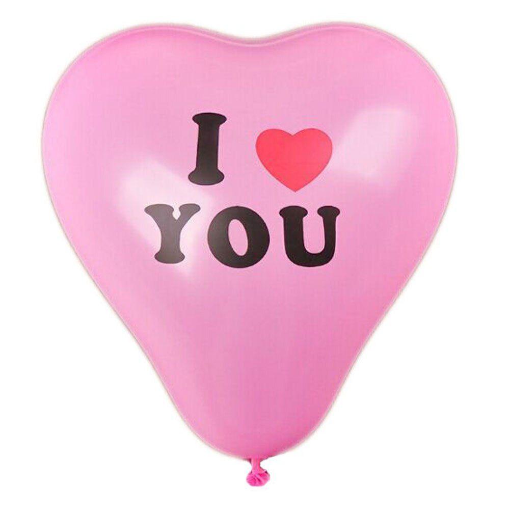 Szív alakú, I love you feliratos lufik