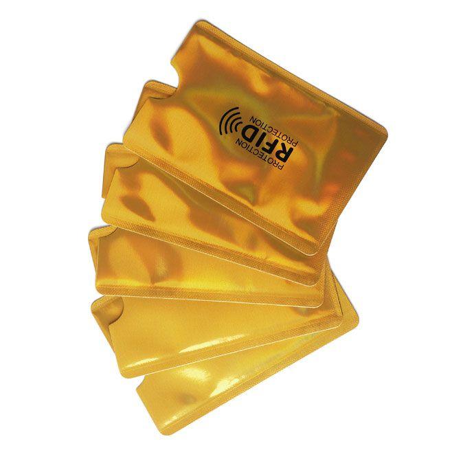Arany RFID blokkoló tok