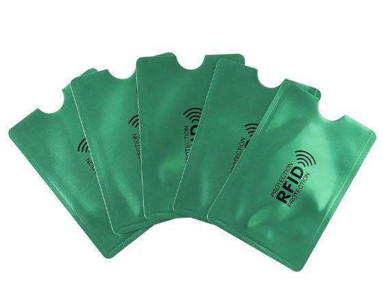 Zöld RFID blokkoló tok