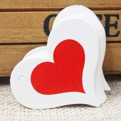 Piros szív ajándékkártya