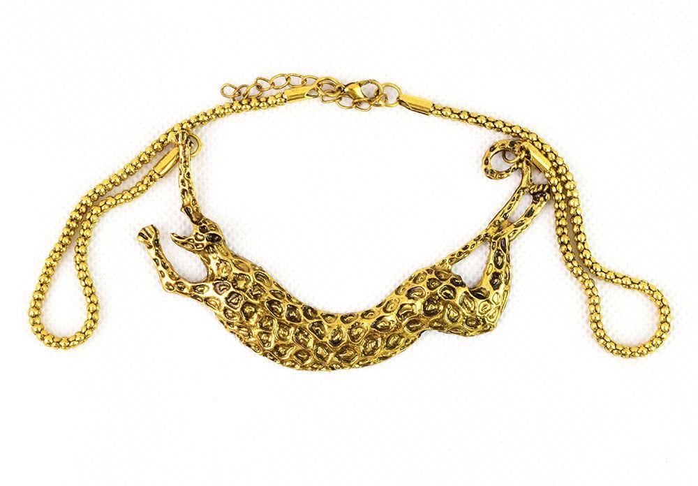 Leopárd medálos női nyaklánc