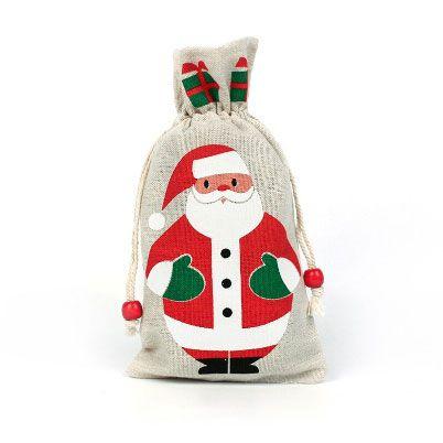 Télapó karácsonyi ajándékzsák