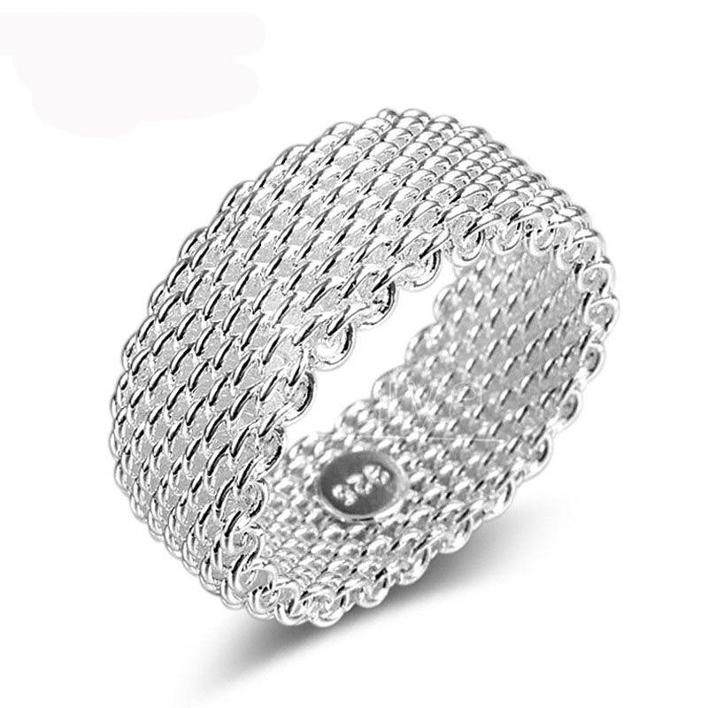 Ezüstözött, fonott gyűrű
