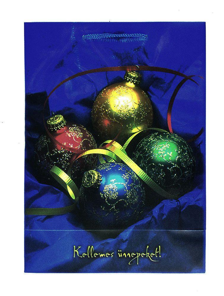 Műanyag Karácsonyi táska