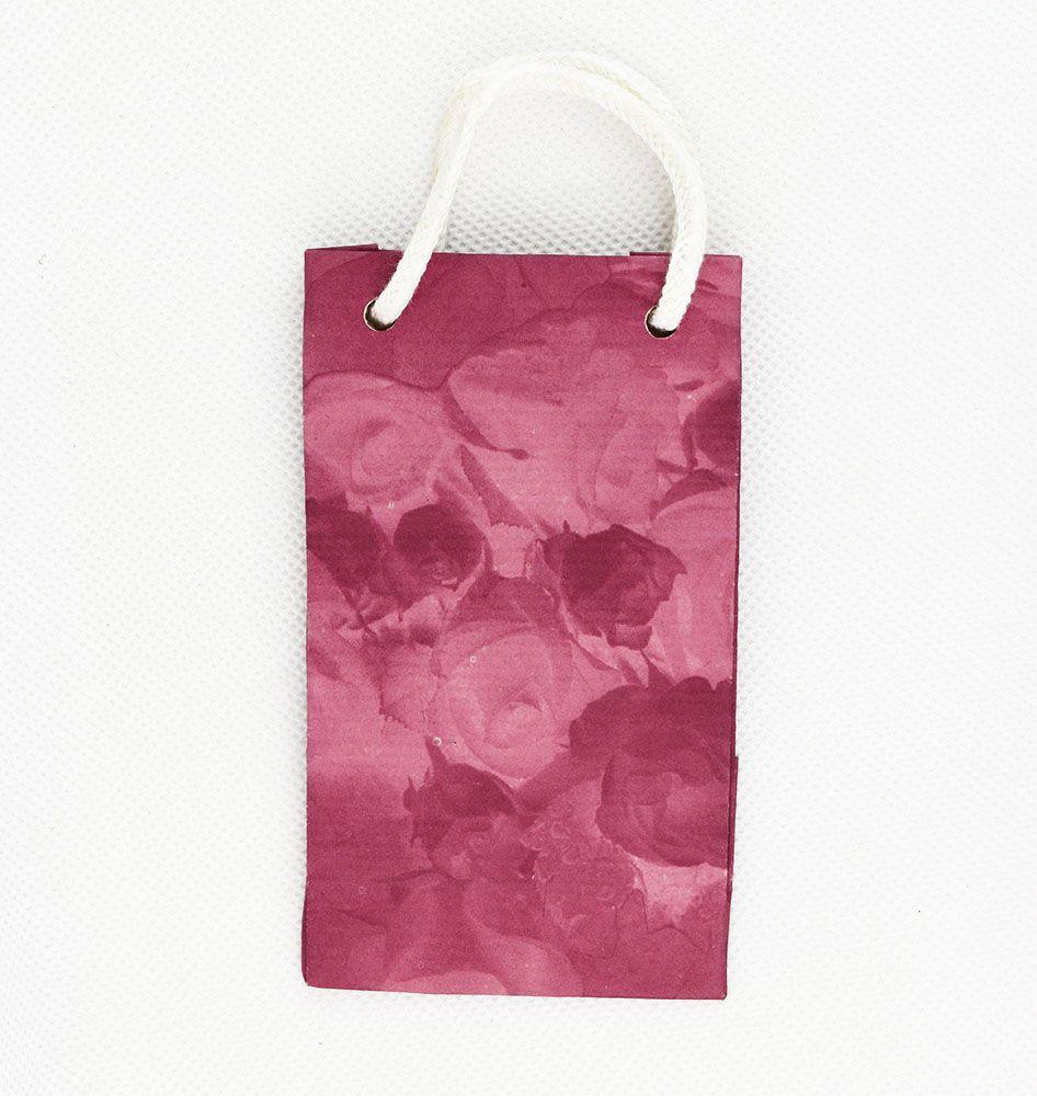 Rózsás, bordó kistáska